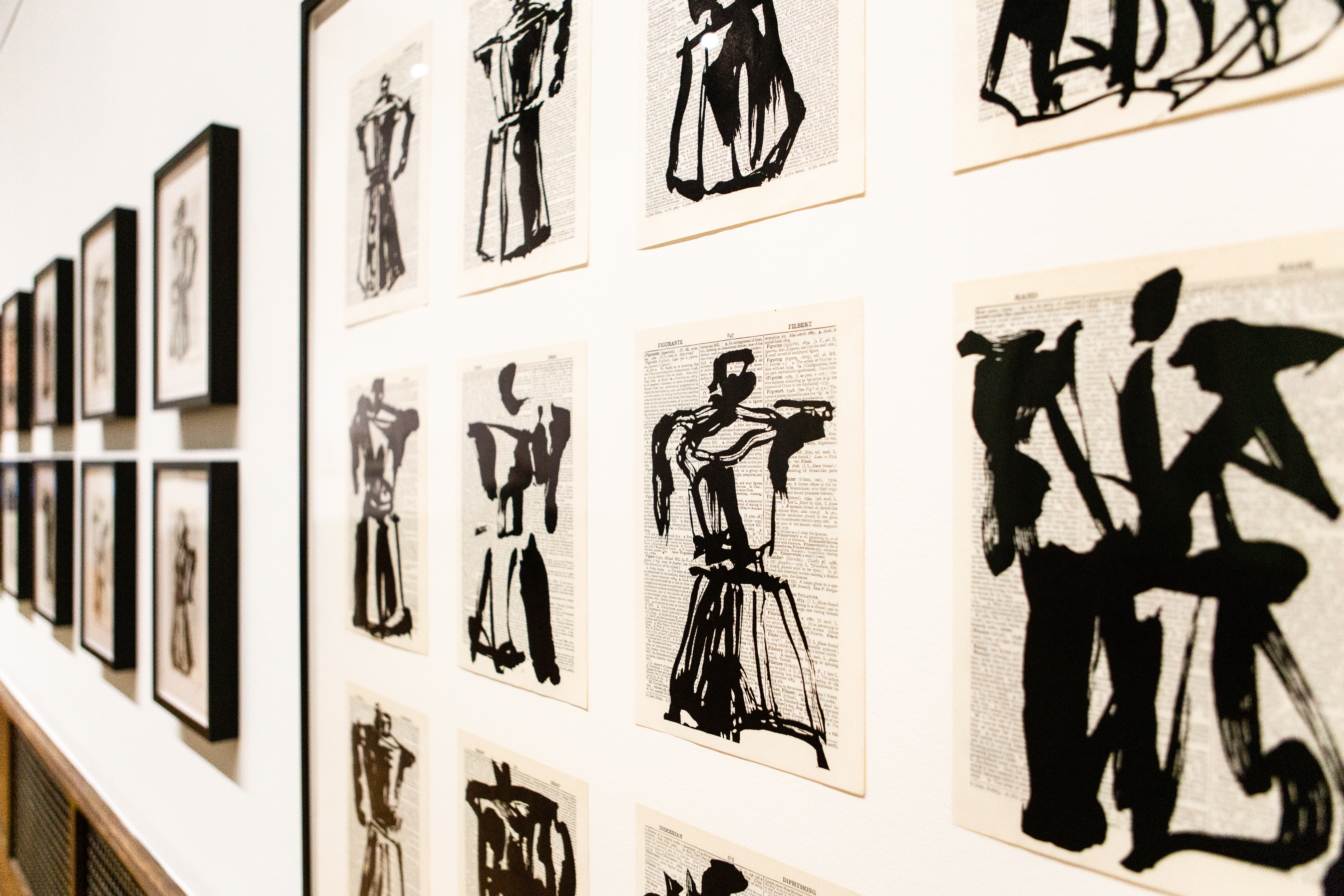 A new exhibition at the arthur ross gallery features linocut prints by south african artist william kentridge