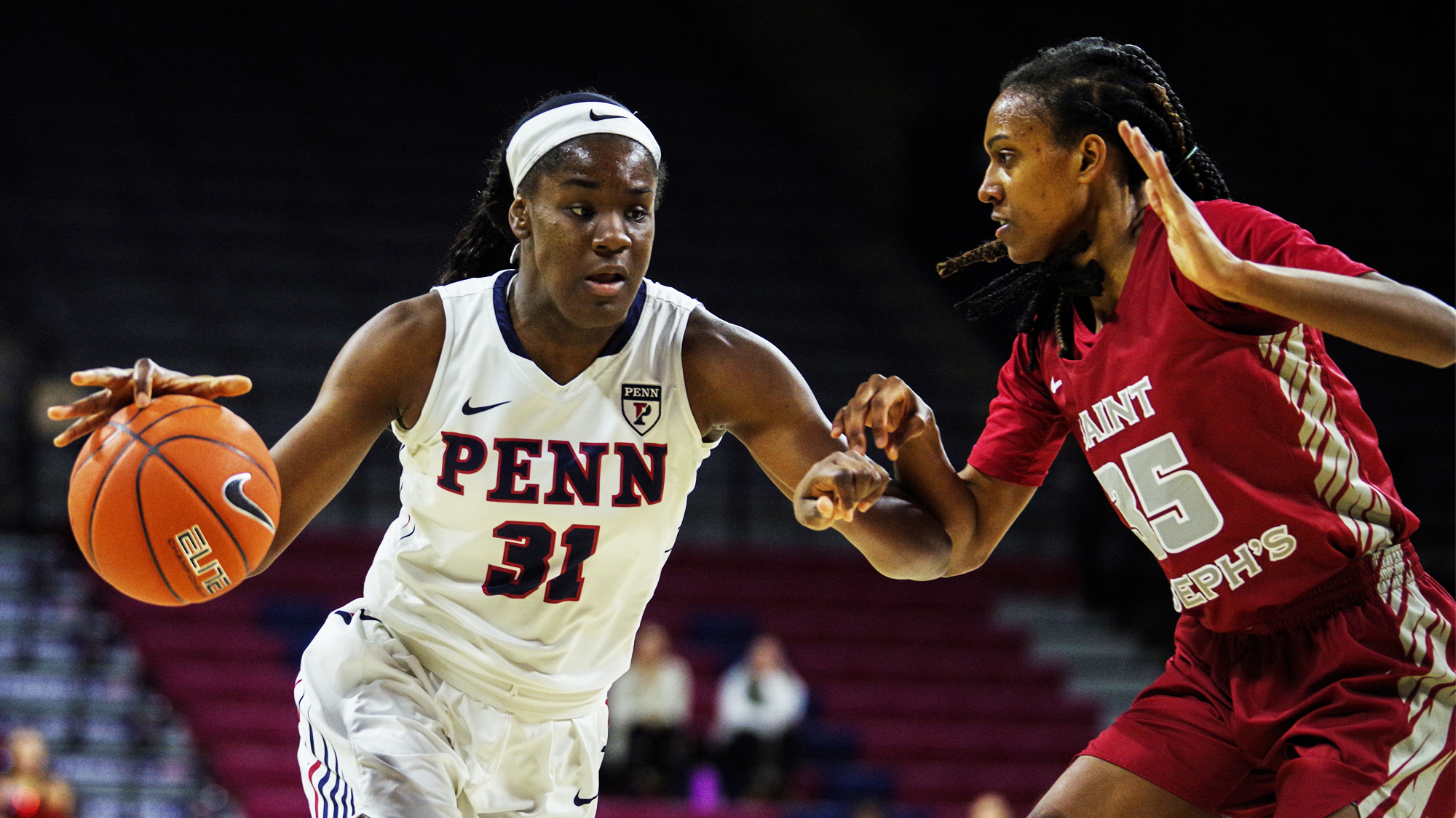 sports shoes 83090 7b440 Women's basketball team sails past Saint Joseph's | Penn Today