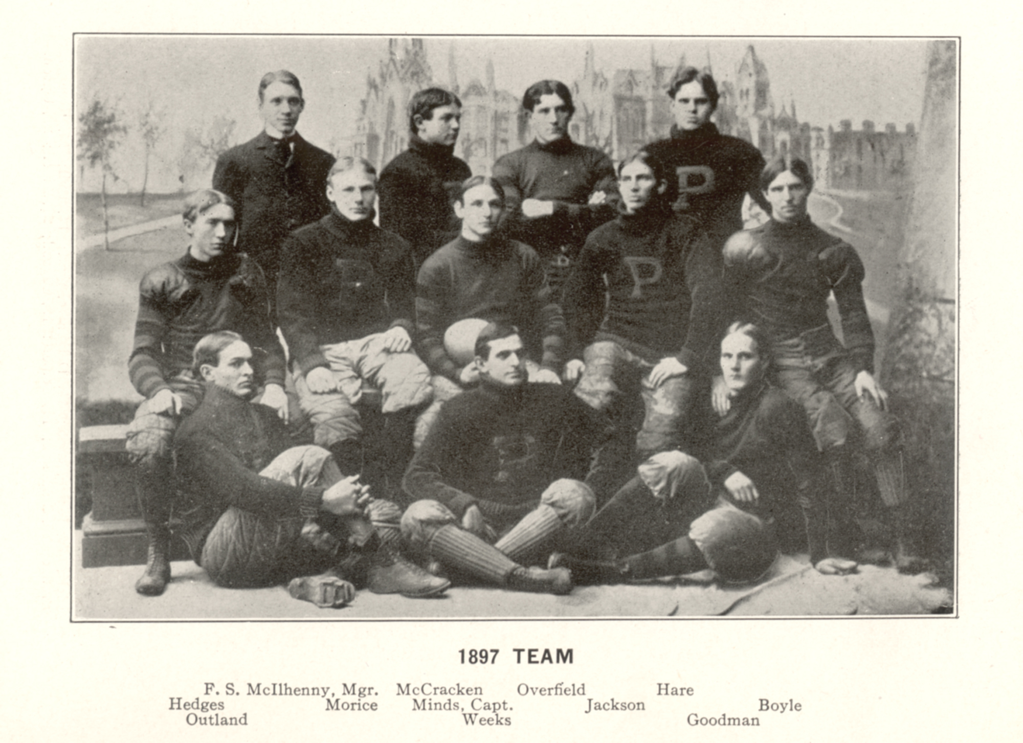 Members of Penn's 1897 national champion football team