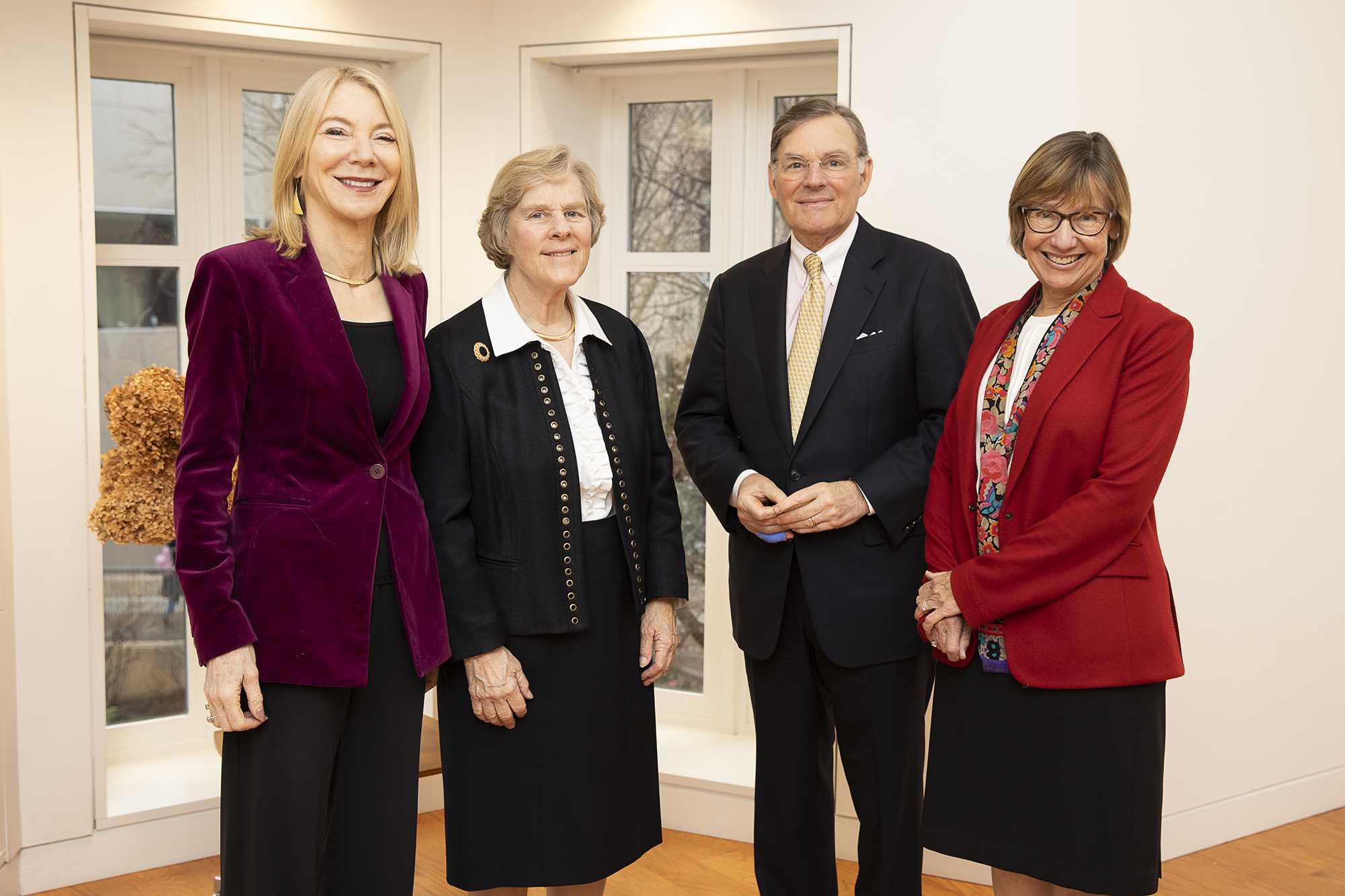 Penn President Amy Gutmann stands with three other people from Penn GSE.