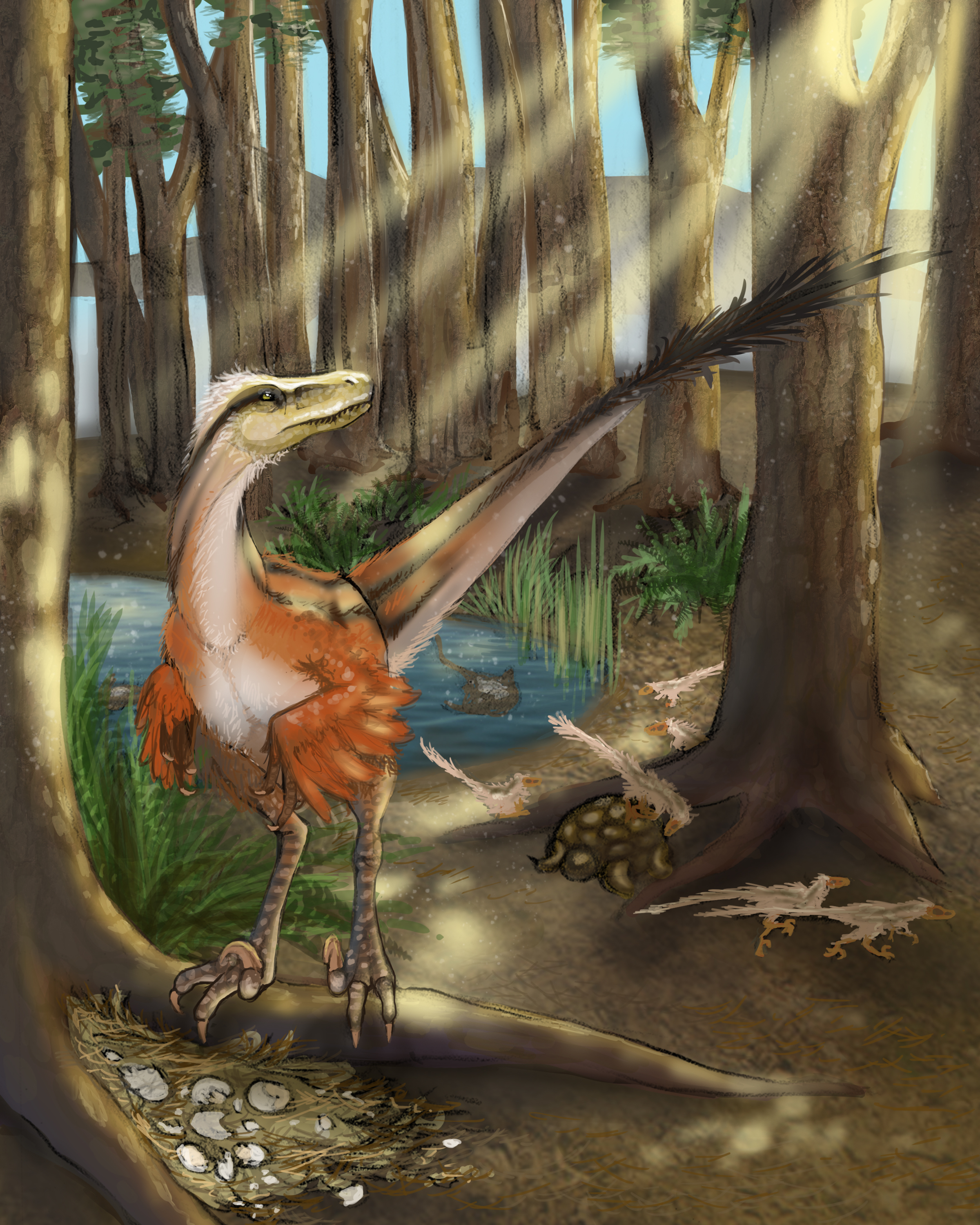 New feathered dinosaur was one of the last surviving raptors ...