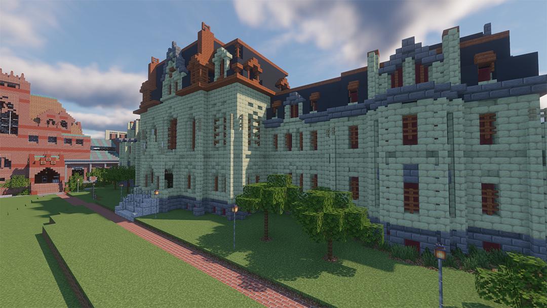 College Hall à la recherche de blocs sous forme numérique Minecraft