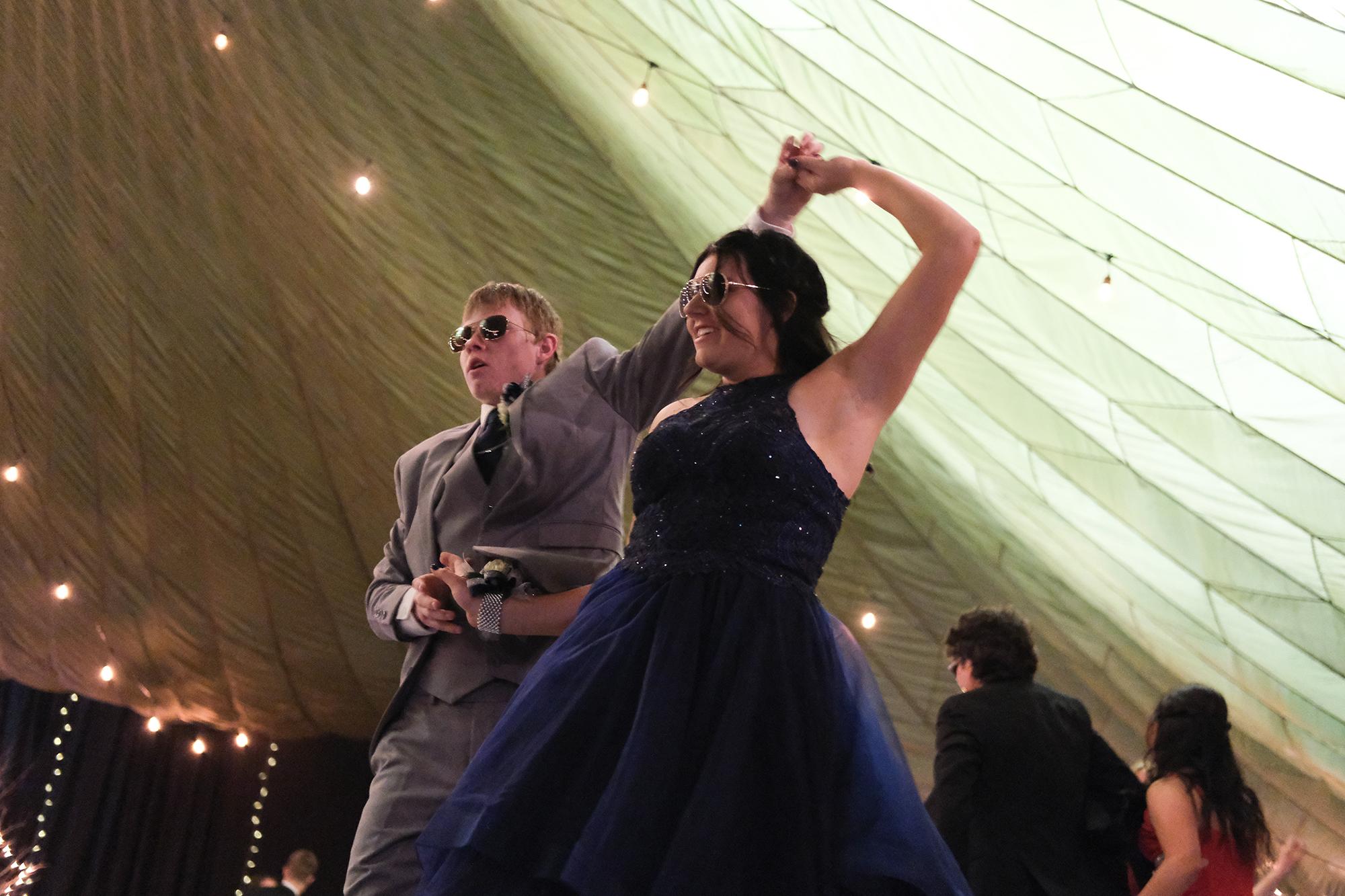 dancing at prom