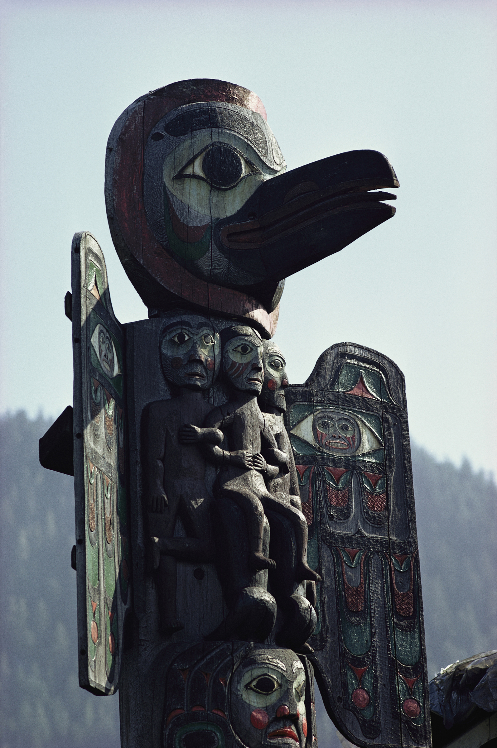 A Tlingit totem pole (Photo: George F. Mobley/National Geographic)