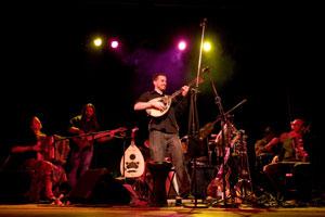 Musical ensemble Animus performs.