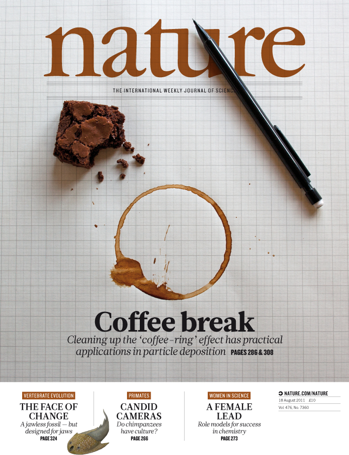 The researchers' work is featured on the cover of the August 18 edition of Nature. Image credit: Nature