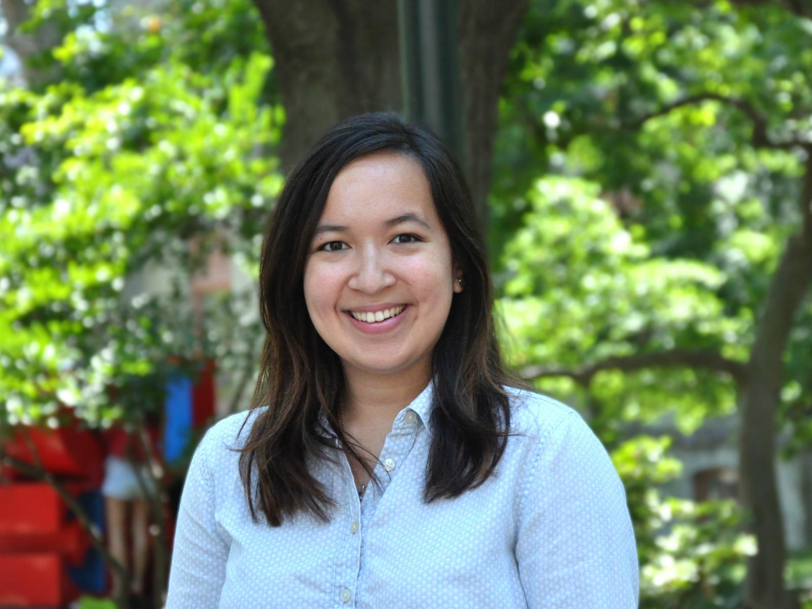Alumna Emilie Vocaj Wan Bok Nale is one of the CASE Advancement interns.