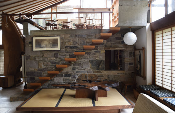 Interior of The George Nakashima House. Photo by César Bargues Ballester