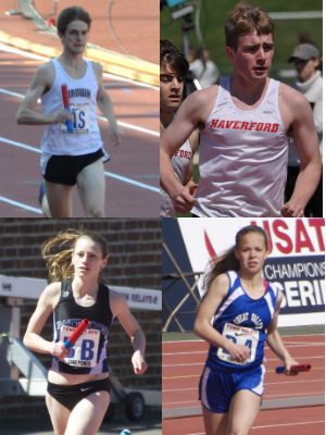 All of Willig's children, Ned, Matt, Anna and Amy, are runners. Three will compete at the Relays this week.