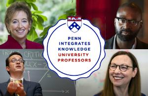 Four of Penn's PIK Professors, clockwise from top left, Karen Glanz, John Jackson Jr., Robert Ghrist and Shelley Berger.