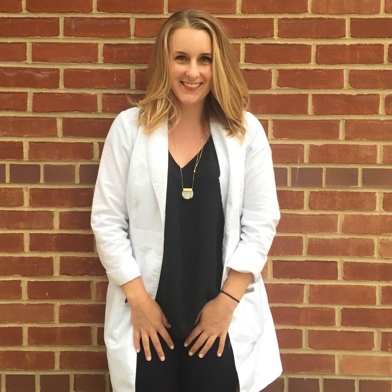 Alexis Pitcairn, an August graduate of the women's health nurse practitioner program and W. Va. trip student liaison