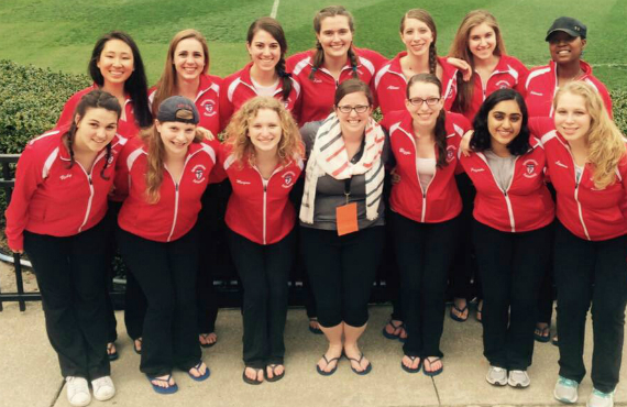 Penn Synchro finished in the top 10 at the U.S. Collegiate Synchronized Swimming Championships in Gainesville, Fla.