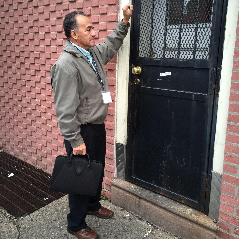 As part of the surveying of immigrants that took place in South Philadelphia, volunteers went door to door