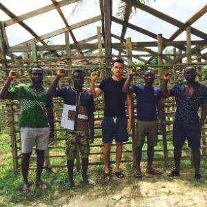 The TBCA team (L-R): Isaac Opuku and Penn grads Shadrack Frimpong, Jacob Mould, Maxwell Sencherey-Taylor, and Julian Addo
