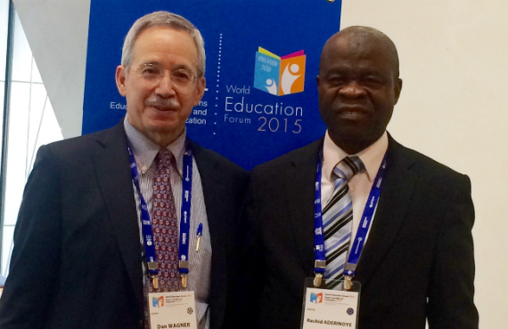 Wagner with Rashid Aderinoye, UNESCO National Commission of Nigeria and former International Literacy Training Program student.