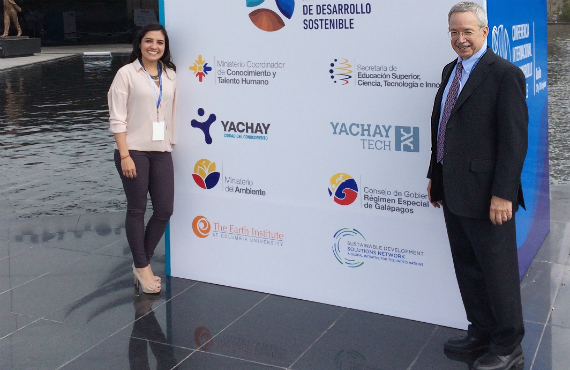 Wagner in Quito, Ecuador, with Norma Urena, recent IEDP student at Penn GSE.