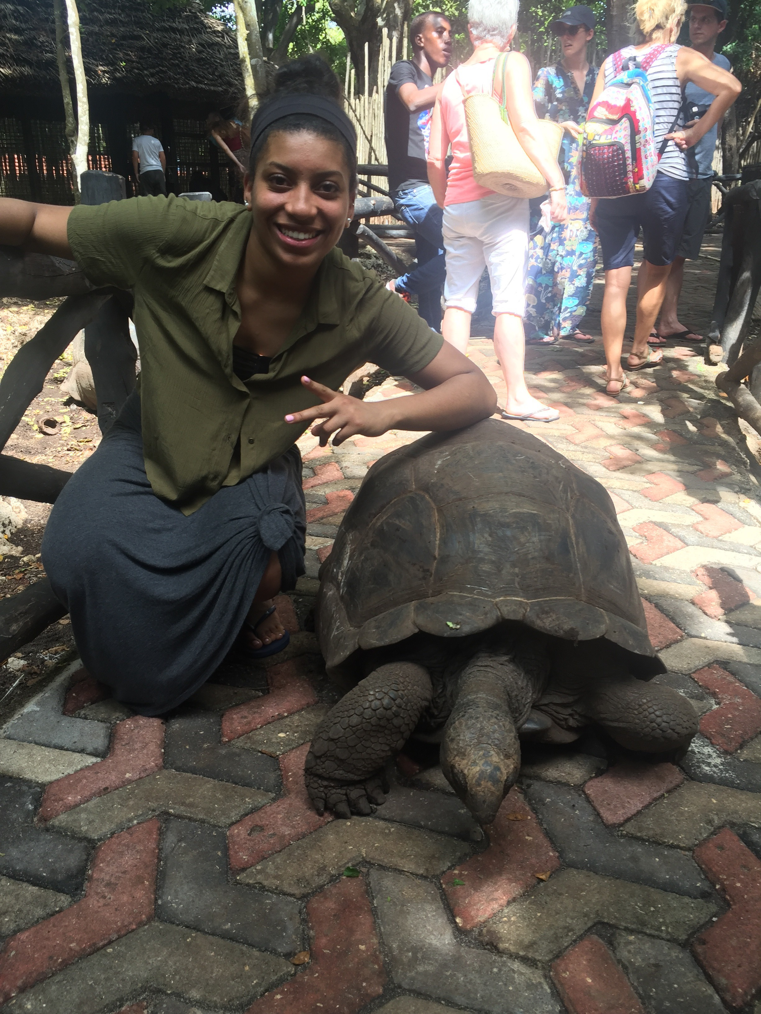 Brittany DeClouette in Zanzibar