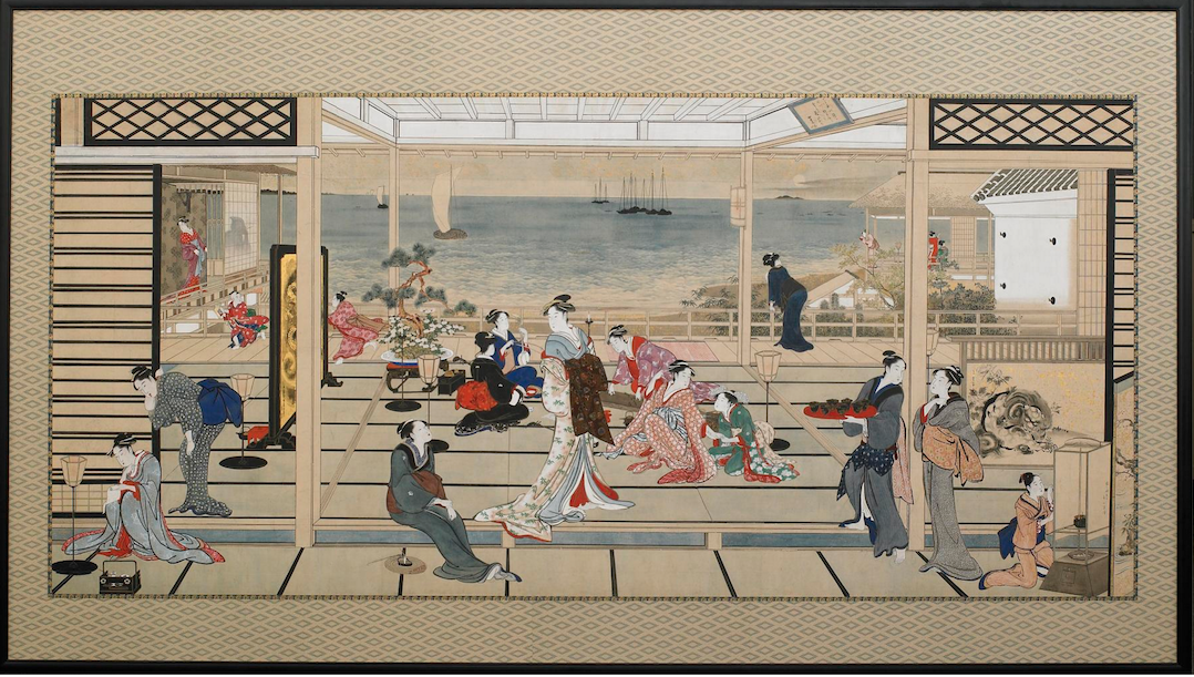 Kitagawa Utamaro, Moonlight at Shinagawa  Courtesy: Freer|Sackler Galleries