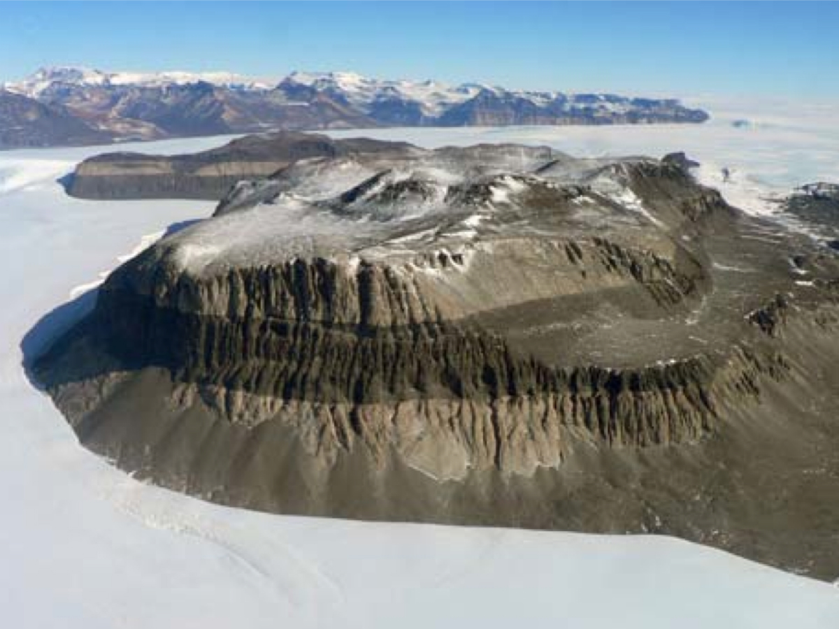 The field site in East Antarctica, which has been frozen for more than 14 million years.