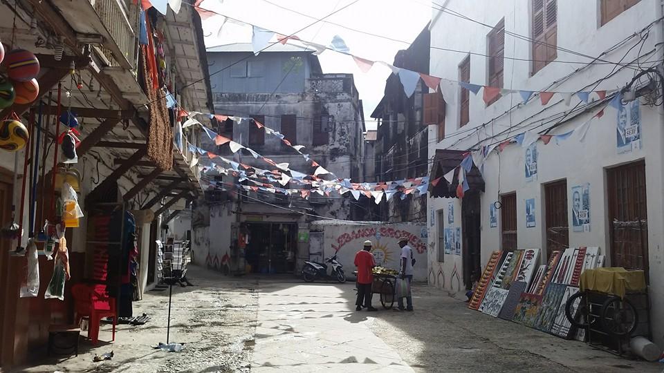 Stone Town street in Zanzibar Photo: Kellen Wartnow
