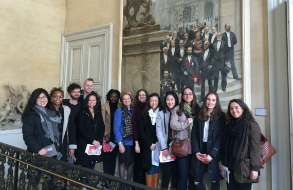 Class touring the Carnavalet — the Museum of the City of Paris