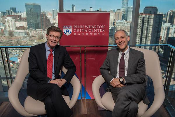 Provost Vincent Price and Ezekiel Emanuel, Vice Provost for Global Initiatives