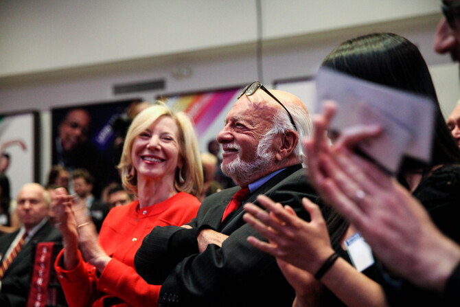 Penn Honors Alum and Broadway Producer Hal Prince With Creative Spirit Award