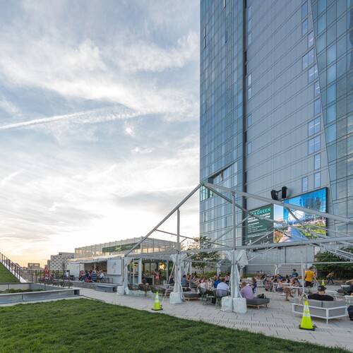 Cira Green with screen and patio seats