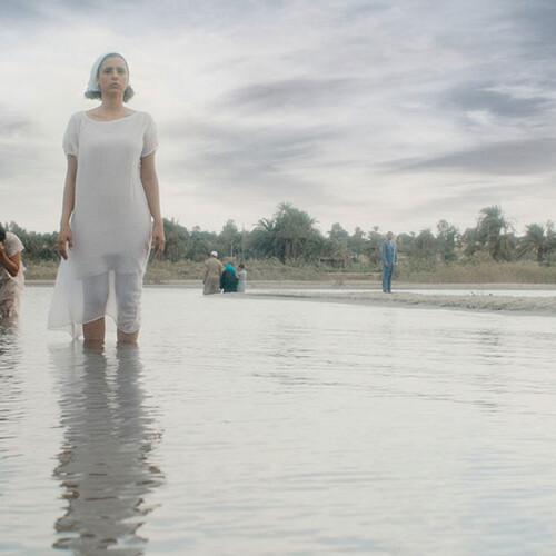 People standing in water