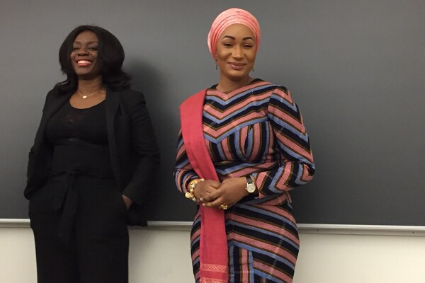 The second lady of Ghana presented at Penn about her work on global health.