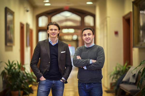 Tobias Nasgarde (left) and Garrett Meccariello, graduate students in the University of Pennsylvania's Master of Behavioral and Decision Sciences program at Penn.