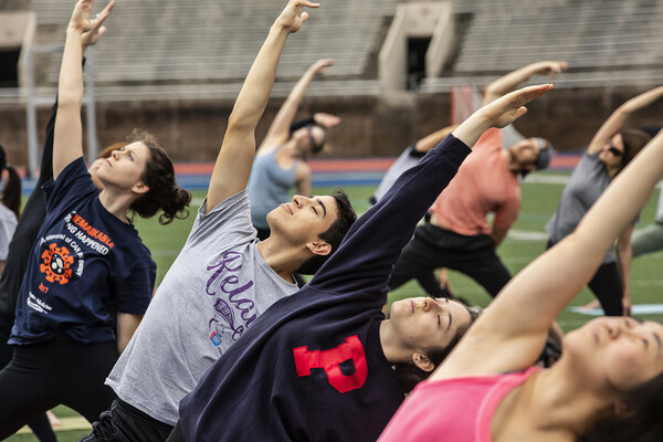 Yoga in Franklin Field