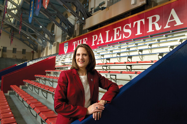 M. Grace Calhoun poses in The Palestra