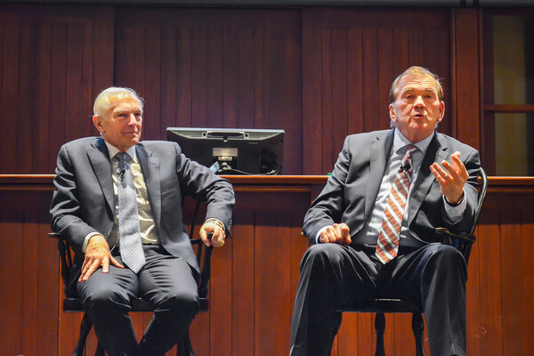 Wesley Clark and Tom Ridge at College Hall
