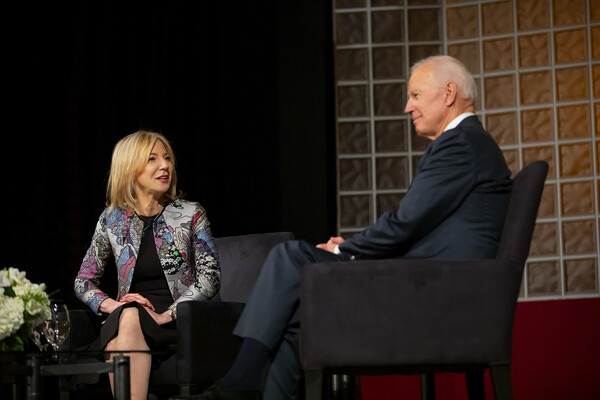 penn president amy gutmann with joe biden
