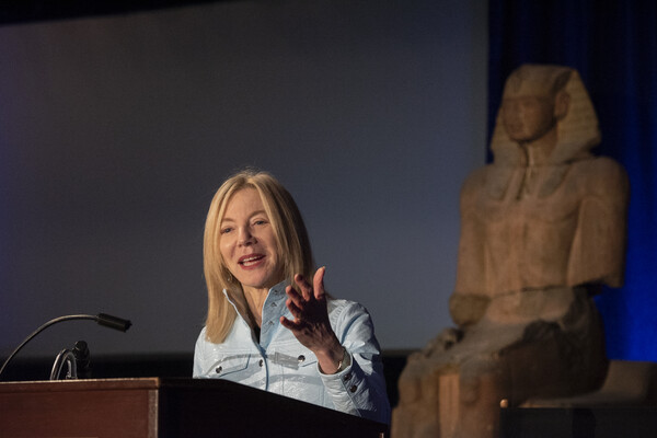 Gutmann speaking about innovation at Penn Museum