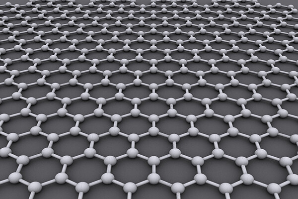 Rendering of 2D graphene molecules
