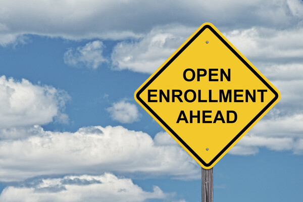Open Enrollment Road Sign