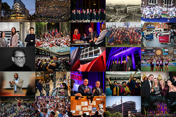 Mosaic of photos from Penn Today from the 2018-19 school year