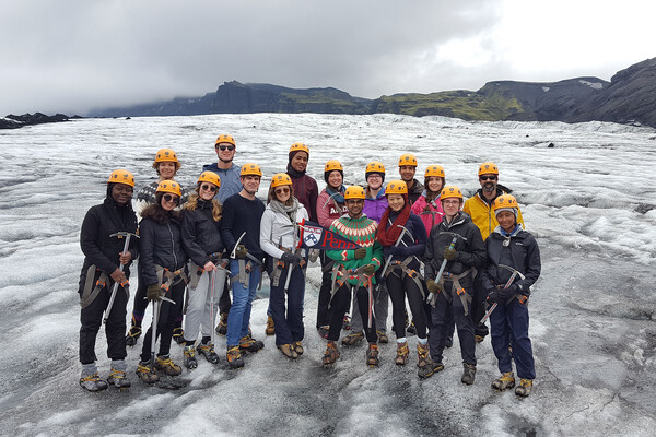 iceland class on site in iceland