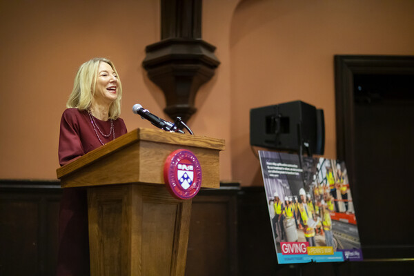 Gutmann kicks off Penn's Way campaign
