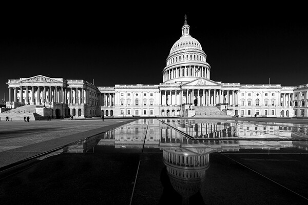 panoramic view of the u.s. capitol building