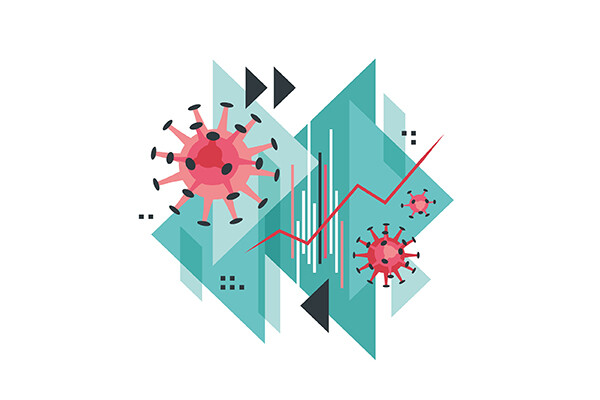 Abstract vector coronavirus illustration