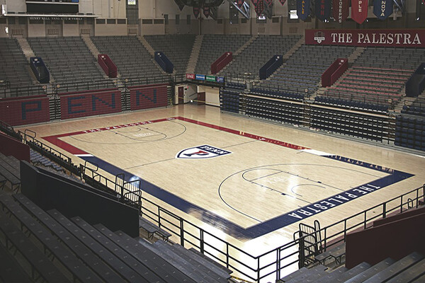Empty court at the Palestra