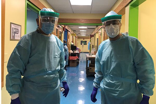 Dentists in protective equipment