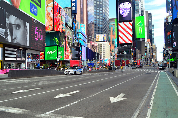 Times Square empty
