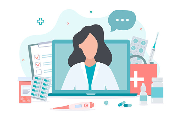 wellness and telemedicine graphic