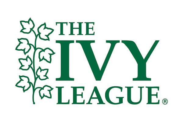 The logo of the Ivy League with Ivy flowers to the left and The Ivy League to the right.