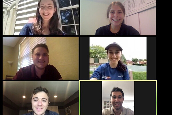 screenshot of zoom call of Wharton school team on the project