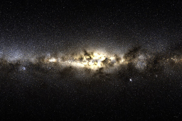 a simulated view of the Milky Way galaxy